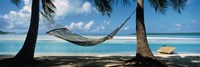 Hammock on the beach, Cook Islands South Pacific Fine-Art Print