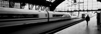 Train leaving a Station, Cologne, Germany Fine-Art Print