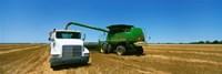 Combine in a wheat field, Kearney County, Nebraska, USA Fine-Art Print