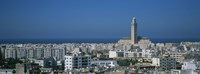 High angle view of a city, Casablanca, Morocco Fine-Art Print