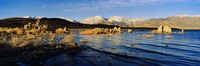 Lake with mountains in the background, Mono Lake, Eastern Sierra, Californian Sierra Nevada, California, USA Fine-Art Print