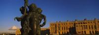 Statues in front of a castle, Chateau de Versailles, Versailles, Yvelines, France Fine-Art Print
