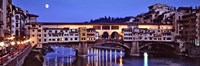 Bridge across a river, Arno River, Ponte Vecchio, Florence, Tuscany, Italy Fine-Art Print