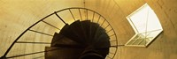 Low angle view of a spiral staircase of a lighthouse, Key West lighthouse, Key West, Florida, USA Fine-Art Print