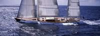 Sailboat in the sea, Antigua (horizontal) Fine-Art Print