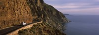 Car on the mountainside road, Mt Chapman's Peak, Cape Town, Western Cape Province, South Africa Fine-Art Print