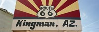 Low angle view of a road sign, Route 66, Kingman, Mohave County, Arizona, USA Fine-Art Print