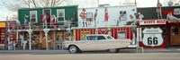 Car on the road, Route 66, Arizona, USA Fine-Art Print