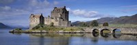 Castle on an island, Eilean Donan, Loch Duich, Dornie, Highlands Region, Scotland Fine-Art Print