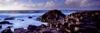 Rock formations on the coast, Giants Causeway, County Antrim, Northern Ireland Fine-Art Print