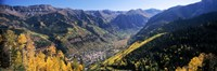 High angle view of a valley, Telluride, San Miguel County, Colorado, USA Fine-Art Print