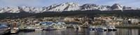 Boats at a harbor, Ushuaia, Tierra Del Fuego, Patagonia, Argentina Fine-Art Print