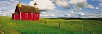 Small Red Schoolhouse, Battle Lake, Minnesota, USA Fine-Art Print
