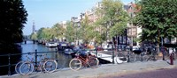Netherlands, Amsterdam, bicycles Fine-Art Print