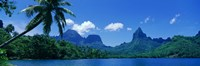 Lush Foliage And Rock Formations, Moorea Island, Tahiti Fine-Art Print