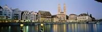Evening, Cityscape, Zurich, Switzerland Fine-Art Print