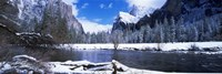 USA, California, Yosemite National Park, Flowing river in the winter Fine-Art Print