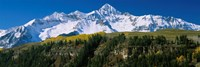 Snowcapped mountains on a landscape, Wilson Peak in autum, San Juan Mountains, near Telluride, Colorado Fine-Art Print