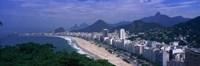 Aerial view of Copacabana Beach, Rio De Janeiro, Brazil Fine-Art Print