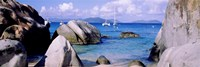 Boulders on a coast, The Baths, Virgin Gorda, British Virgin Islands Fine-Art Print