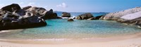 British Virgin Islands, Virgin Gorda, The Baths, Rock formation in the sea Fine-Art Print