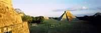 Pyramids at an archaeological site, Chichen Itza, Yucatan, Mexico Fine-Art Print