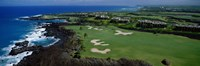 Aerial Francis H Li Brown Golf Course, Hawaii, USA Fine-Art Print