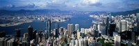 Hong Kong with Cloudy Sky, China Fine-Art Print