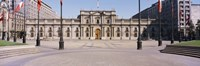 Facade of a palace, Plaza De La Moneda, Santiago, Chile Fine-Art Print