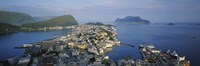 High angle view of a town, Alesund, More og Romsdall, Norway Fine-Art Print