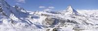 Snow Covered Slopes, Matterhorn Switzerland Fine-Art Print