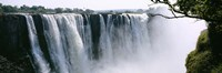 Waterfall in a forest, Victoria Falls, Zimbabwe, Africa Fine-Art Print