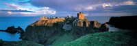 High angle view of a castle, Stonehaven, Grampian, Aberdeen, Scotland Fine-Art Print
