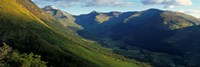 High Angle View Of Grass Covering Mountains, Stob Ban, Glen Nevis, Scotland, United Kingdom Fine-Art Print