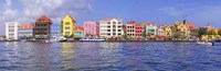 Buildings at the waterfront, Willemstad, Curacao, Netherlands Antilles Fine-Art Print