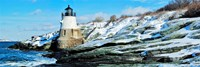 Lighthouse along the sea, Castle Hill Lighthouse, Narraganset Bay, Newport, Rhode Island (horizontal) Fine-Art Print