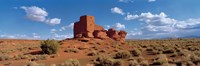 Ruins of a building in a desert, Wukoki Ruins, Wupatki National Monument, Arizona, USA Fine-Art Print