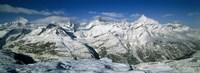 Mountains covered with snow, Matterhorn, Switzerland Fine-Art Print