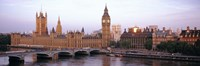 Arch bridge across a river, Westminster Bridge, Big Ben, Houses Of Parliament, Westminster, London, England Fine-Art Print