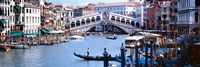 Bridge across a river, Rialto Bridge, Grand Canal, Venice, Italy Fine-Art Print