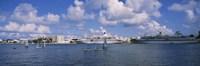 Cruise ships docked at a harbor, Hamilton Harbour, Hamilton, Bermuda Fine-Art Print