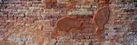 Close-up of a brick wall, Venice, Veneto, Italy Fine-Art Print