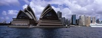 Opera house at the waterfront, Sydney Opera House, Sydney Harbor, Sydney, New South Wales, Australia Fine-Art Print