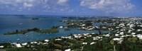 Buildings along a coastline, Bermuda Fine-Art Print