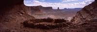 Stone circle on an arid landscape, False Kiva, Canyonlands National Park, San Juan County, Utah, USA Fine-Art Print