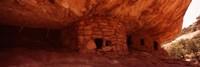 Dwelling structures on a cliff, Anasazi Ruins, Mule Canyon, Utah, USA Fine-Art Print