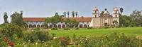 Garden in front of a mission, Mission Santa Barbara, Santa Barbara, Santa Barbara County, California, USA Fine-Art Print