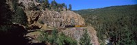 Train moving on a railroad track, Durango And Silverton Narrow Gauge Railroad, Silverton, San Juan County, Colorado, USA Fine-Art Print