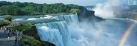 Tourists at a waterfall, Niagara Falls, Niagara River, Niagara County, New York State, USA Fine-Art Print