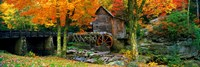 Glade Creek Grist Mill, Babcock State Park, West Virginia (bright leaves) Fine-Art Print